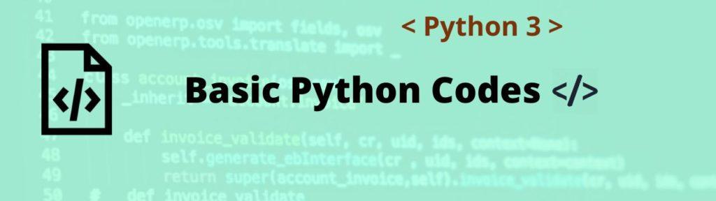 python basic code header aipython