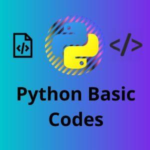Python Basics codes