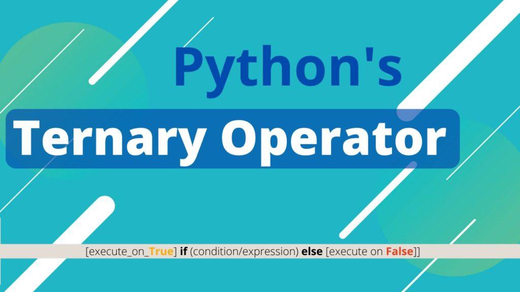 Python ternary operator
