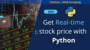 python web scraping stock price