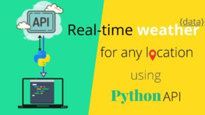 python api - weather data